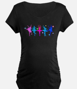 Ballet Sillouettes Maternity T-Shirt