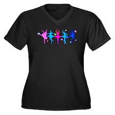 Ballet Sillouettes Plus Size T-Shirt
