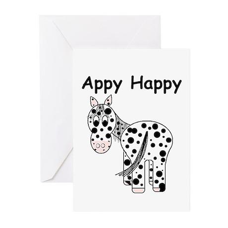 Appy Happy, Leopard Appaloosa Greeting Cards (Pk o