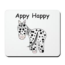 Appy Happy, Leopard Appaloosa Mousepad