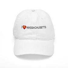 I love Massachusetts Baseball Cap