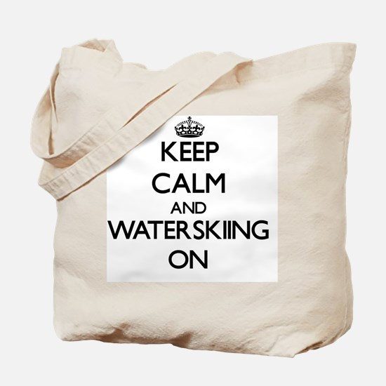 Keep Calm and Waterskiing ON Tote Bag