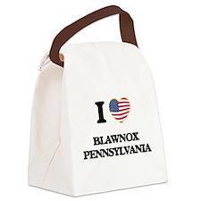 I love Blawnox Pennsylvania Canvas Lunch Bag