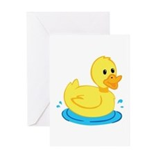 Yellow Duck Greeting Cards