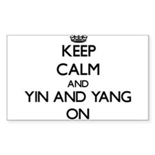 Keep Calm and Yin and Yang ON Decal