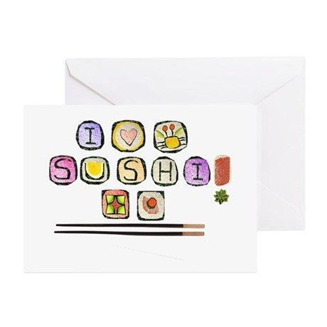 Sushi Greeting Cards (Pk of 10)