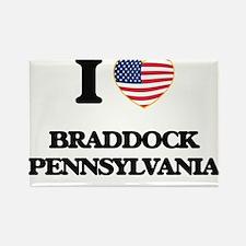I love Braddock Pennsylvania Magnets