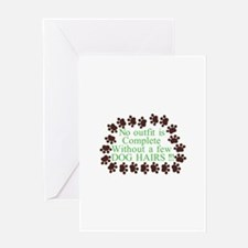 A Few Dog Hairs Greeting Cards