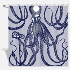 Awesome Vintage Indigo Octopus Shower Curtain