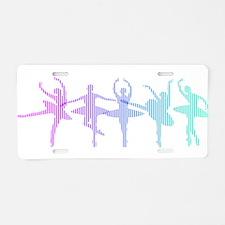 Ballet Lines Aluminum License Plate
