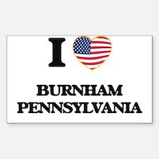 I love Burnham Pennsylvania Decal