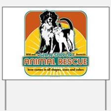 Animal Rescue Dog and Cat Yard Sign