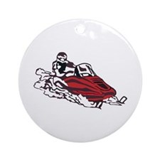 Snowmobile Ornament (Round)