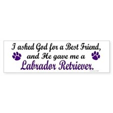 God Gave Me A Labrador Retriever Bumper Bumper Sticker