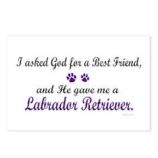 God Gave Me A Labrador Retriever Postcards (Packag