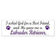 God Gave Me A Labrador Retriever Bumper Bumper Sticker