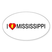 I love Mississippi Oval Decal