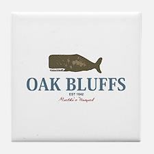 Oak Bluffs - Martha's Vineyards. Tile Coaster