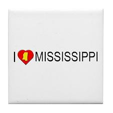 I love Mississippi Tile Coaster