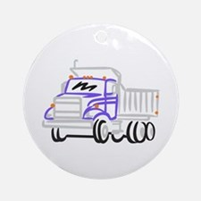 Abstract Dump Truck Ornament (Round)