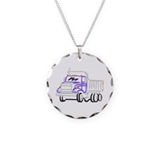Abstract Dump Truck Necklace