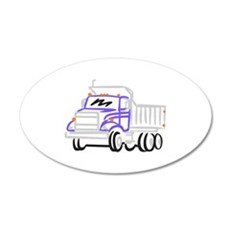Abstract Dump Truck Wall Decal