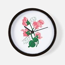 Sweet peas Wall Clock