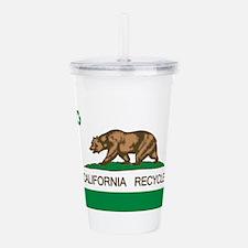 California Recycle Fla Acrylic Double-wall Tumbler