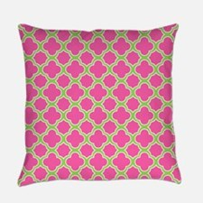Quatrefoil Pattern Pink and Lime Green Everyday Pi