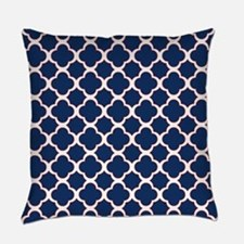 Quatrefoil Pattern Navy Blue White and Red Everyda