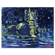 George Luks - Boulders on a Riverbank Poster