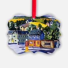 George Luks painting, Gas Station Ornament