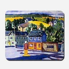 George Luks painting, Gas Station Mousepad