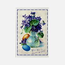 Easter Violets Vintage Rectangle Magnet Magnets