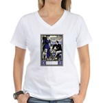 DOGS IN FASHION Women's V-Neck T-Shirt