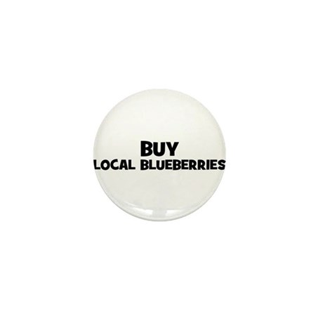 buy local blueberries Mini Button