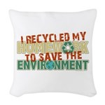 Recycled Homework Woven Throw Pillow