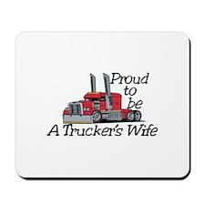 Truckers Wife Mousepad