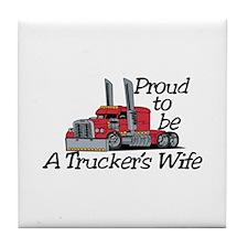 Truckers Wife Tile Coaster