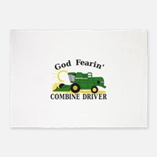 God Fearin Combine Driver 5'x7'Area Rug