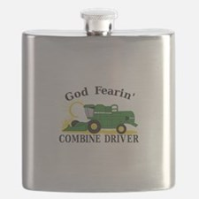God Fearin Combine Driver Flask