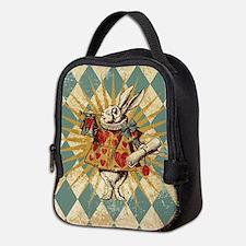 Cute White rabbit Neoprene Lunch Bag