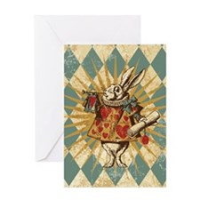 Cute White rabbit Greeting Card