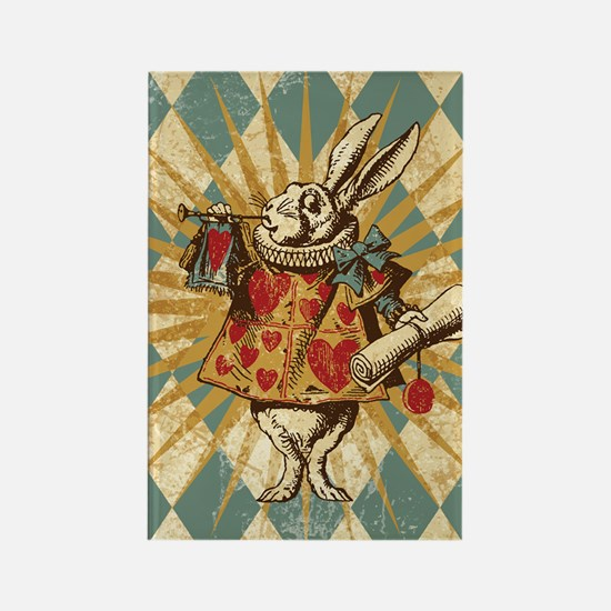 Cute White rabbit Rectangle Magnet