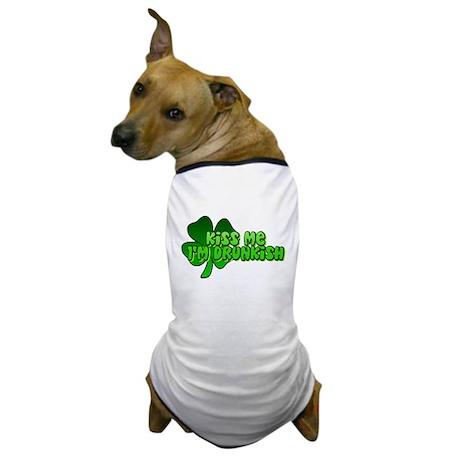 Kiss Me I'm Drunkish Dog T-Shirt
