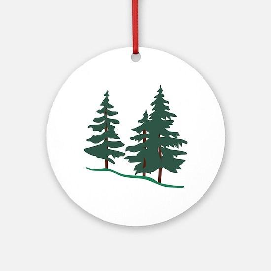 Evergreen Trees Ornament (Round)