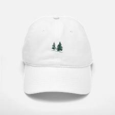 Evergreen Trees Baseball Baseball Baseball Cap