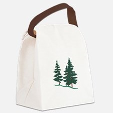 Evergreen Trees Canvas Lunch Bag