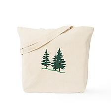 Evergreen Trees Tote Bag