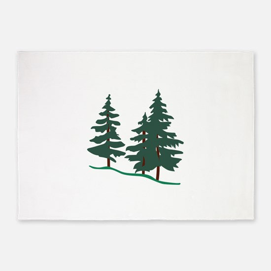 Evergreen Trees 5'x7'Area Rug
